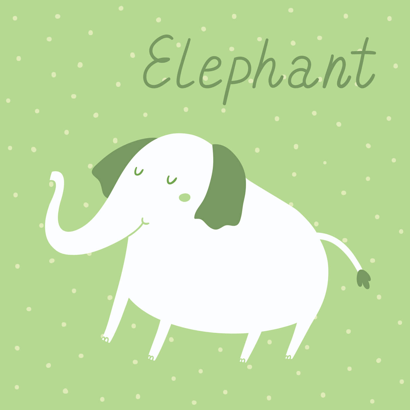 """Free vector """"Vector illustration of an elephant"""""""