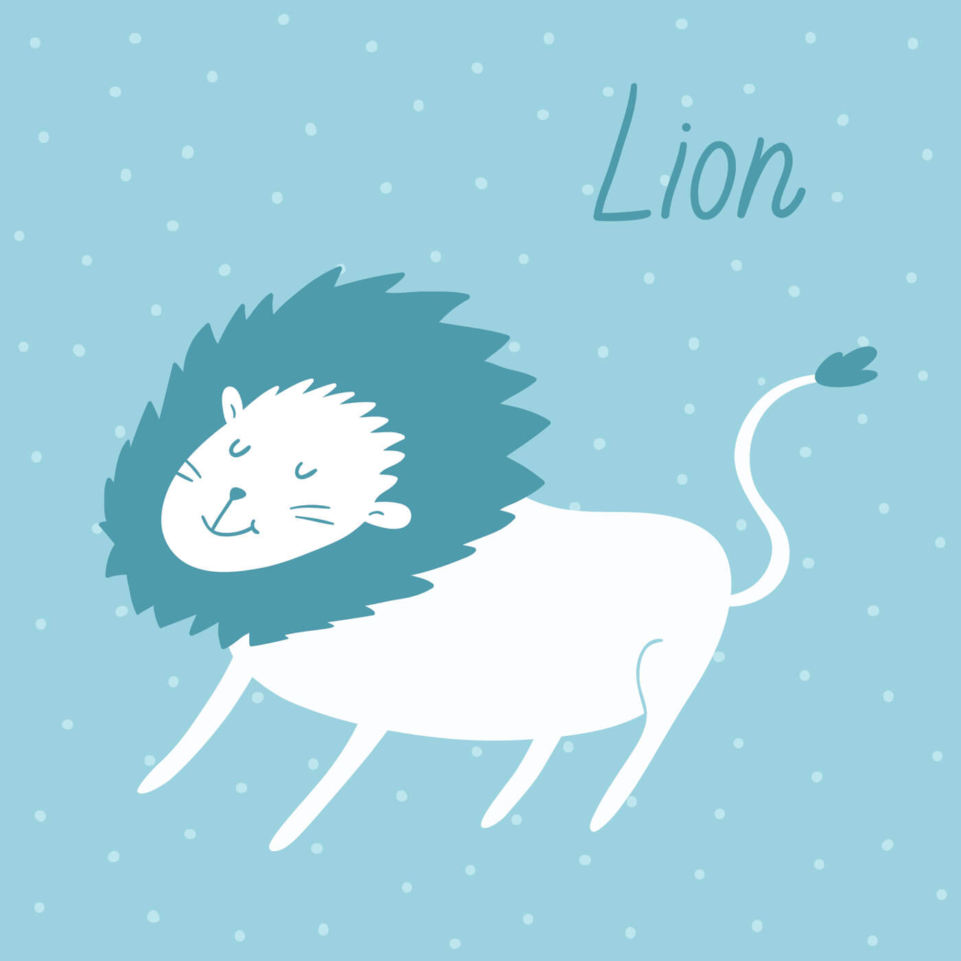"""Free vector """"Vector illustration of a lion"""""""