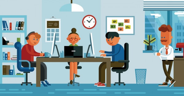 Office illustration vector